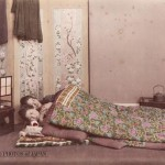 Two women sleeping under winter quilts