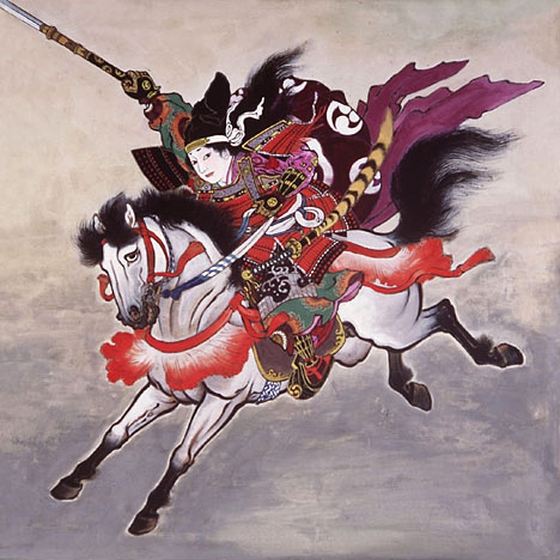 tomoe-gozen on horse