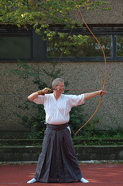Kai stage of shooting arrows