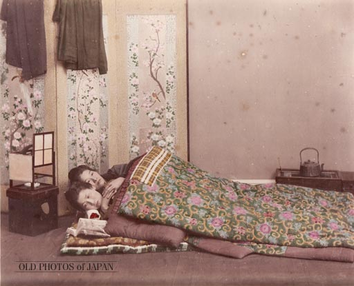 early 20th century photograph: Two Women Sleeping