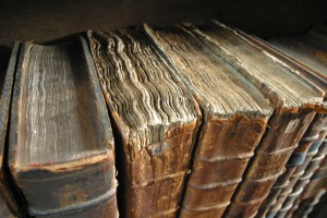 Old book bindings