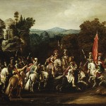 Departure of the Amazons by Deruet,  1620