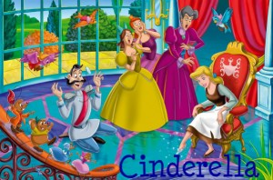 Cinderella and her evil  stepmother and stepsisters