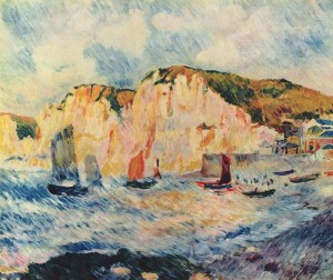 Normandy Cliffs by Auguste Renoir
